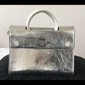 Diorever Christian Dior Medium Metallic Calfskin